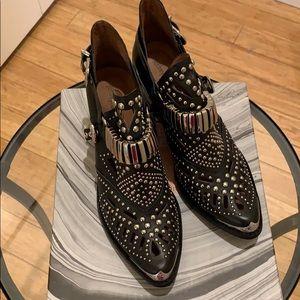 Jeffrey Campbell Black silver stud western booties
